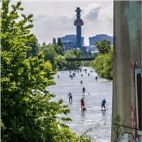 SUP TOUR AM DONAUKANAL