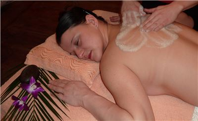 Seifenschaum-Massage