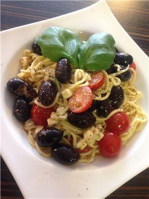 Oliven-Spaghetti