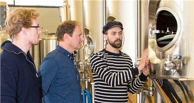 Brauereibesichtigung Lagertank
