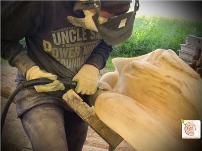 5 Bildhauerkurse mit Holz K1 bei Berlin