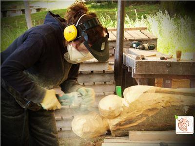 4 Bildhauerkurse mit Holz K1 bei Berlin