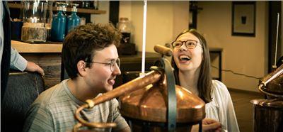 Spass beim Destillieren
