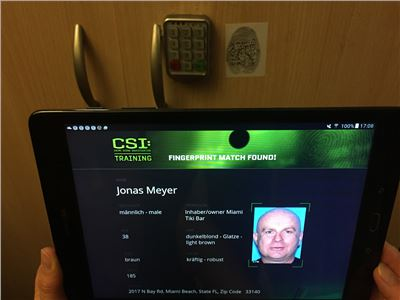 CSI Fingerprint Scan Tablet