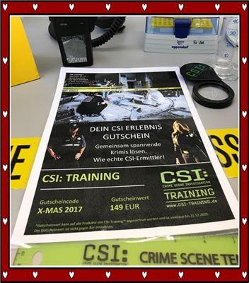 5 Stunden CSI Training Gutschein