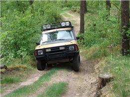 Geländewagentour mit original Camel Trophy Discovery